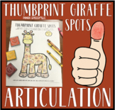 Thumbprint. Giraffe Spots: A Speech Therapy Art Activity