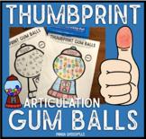 Thumbprint Gum Balls: An Articulation Art Activity