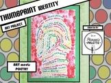 Thumbprint Identity Poem Project, A Picassa's Palette Art Lesson