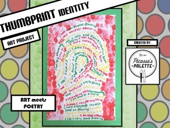 Thumbprint Identity Poem Project, A Picassa's Palette Art Lesson