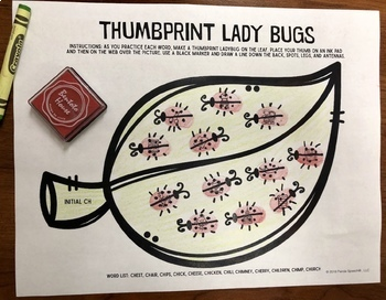 Thumbprint Ladybugs: A Speech Therapy Art Activity