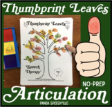 Thumbprint Leaves A Speech Therapy Art Activity