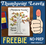 Thumbprint Leaves Freebie A speech therapy craft activity