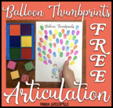 Thumbprint Balloons Freebie A speech therapy craft activity