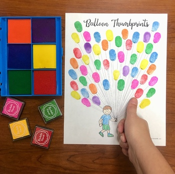 Thumbprint Balloons Freebie A Speech Therapy Craft Activity By Panda