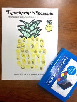 Thumbprint Pineapple: An Articulation Art Activity