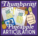 Thumbprint Pineapple: An Articulation Art Activity