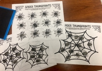 Thumbprint Spiders A Speech Therapy Craft Activity