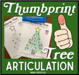 Thumbprint Tree: An Articulation Art Activity