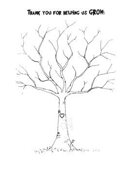 Thumbprint Tree-Thanks for helping us grow pdf