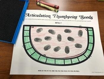 Thumbprint Watermelon Seeds!