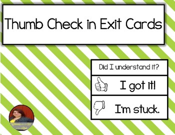 Thumbs Check In Cards