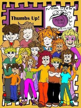 ~~Thumbs UP~~People/Kid Digital Clipart Girls and Boys WACKY HAIR