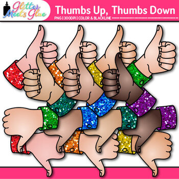 Thumbs Up and Down Clip Art {Classroom Management Graphics for Class Decor}
