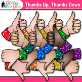 Thumbs Up and Down Clip Art: Classroom Management Graphics {Glitter Meets Glue}