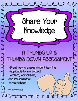 Thumbs Up & Thumbs Down Assessment