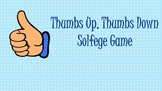 Thumbs Up Thumbs Down Solfege Pattern Game: Levels 1 & 2