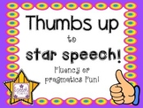 Thumbs Up To Star Speech