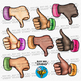 Thumbs Up and Down Clip Art