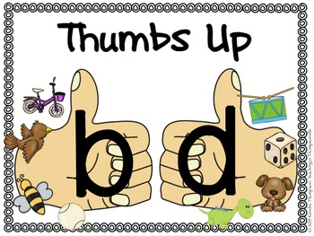 Thumbs Up: b and d