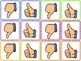 Thumbs Up or Down Popsicle Stick Cards Freebie