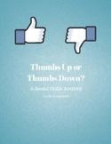 Thumbs Up or Thumbs Down? Social Skills Activity