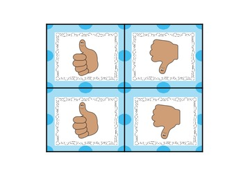 Thumbs Up/Thumbs Down Sticks- Total Participation Idea