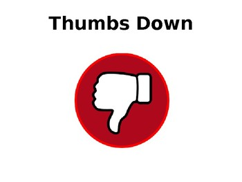 Thumbs up/ Thumbs down cards