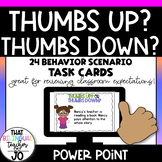 Thumbs up or Thumbs down? Sorting behavior scenarios.