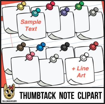 Thumbtack Notes Clip Art