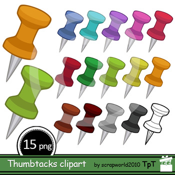 Thumbtacks clipart, Pushpins clip art, ok kommercial use,
