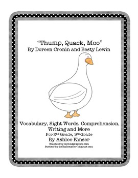 Thump, Quack, Moo - Comprehension, Vocabulary and Writing