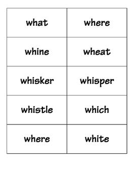 Thump, a consonant digraph card game