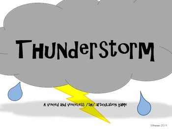 Thunder! A /th/ articulation game