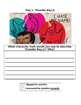 Thunder Boy Jr.: Three Day Close Reading Plan