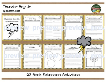 Thunder Boy Jr. by Sherman Alexie Literacy Pack - 14 Activities