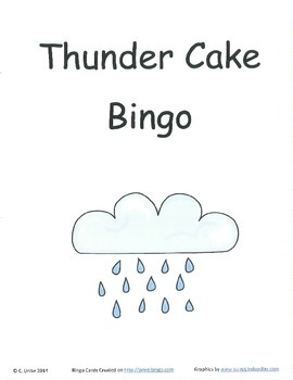 Thunder Cake Bingo Game ~ Language Arts Activity