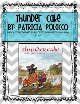 Thunder Cake Book Study