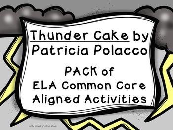 Thunder Cake-Character Trait/Feeling-Text Evidence-Theme PACK