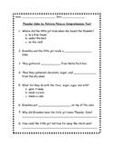 Thunder Cake Comprehension Test