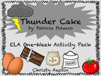 Thunder Cake ELA Activity Pack