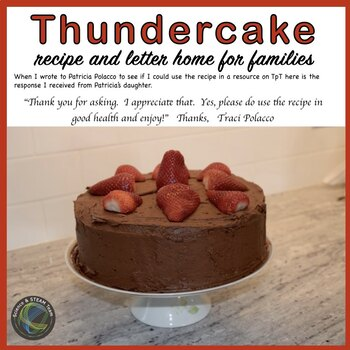 Thunder Cake Letter Requesting that Families Make a Cake for the Class