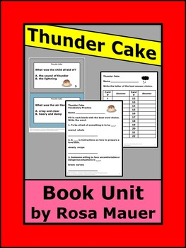 Thunder Cake Literacy Book Unitg