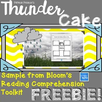 Thunder Cake Reading Comprehension FREEBIE!