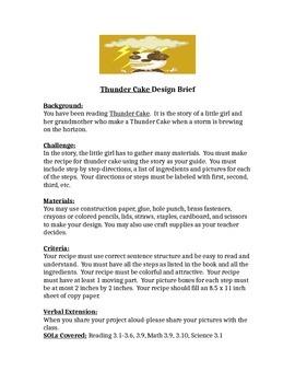 Thunder Cake STEM Children's Engineering Design Brief