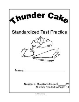 Thunder Cake Standardized Test Practice
