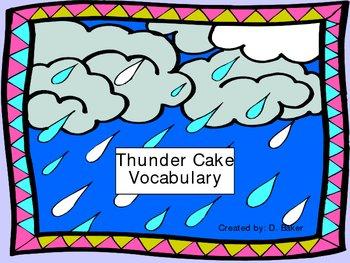 Thunder Cake Vocabulary Houghton Mifflin Series