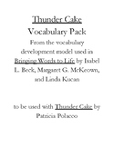 Thunder Cake Vocabulary Pack