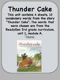 ReadyGen Thunder Cake Vocabulary  3rd grade Unit 1, Module A