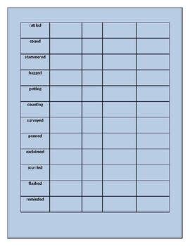 Thunder Cake Word Study Unit Plan